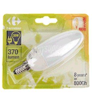 Carrefour Bombilla ecologica vela 8W E14 luz calida