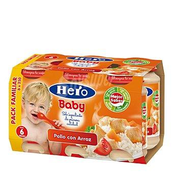 Hero Baby Tarrito de pollo con arroz Pack 5x250 g