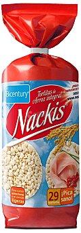 Nackis Bicentury tortas de arroz integral con sal Nackis bolsa 130 g