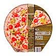Pizza congelada mozzarela pesto 400 g unidad Hacendado