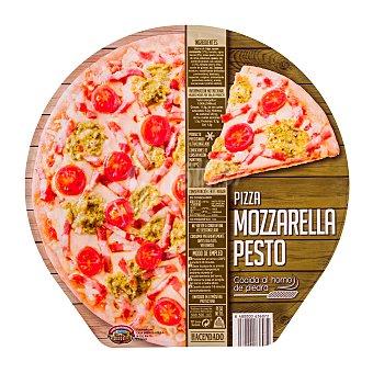 Hacendado Pizza congelada mozzarela pesto 400 g unidad