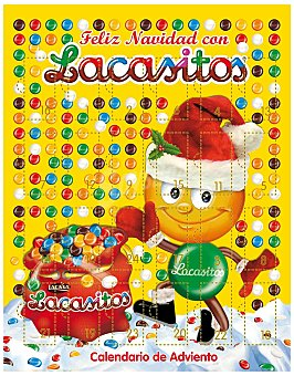 Lacasitos Lacasa Calendario Adviento de chocolate 70 gramos
