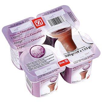 DIA Postre de chocolate ligero Pack 4 unidades 125 gr
