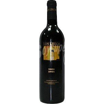 LOS LIRIOS Vino tinto joven D.O. Monte Lentiscal Botella 75 cl