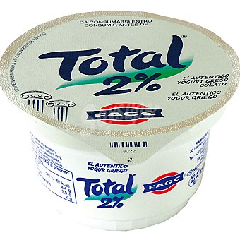 TOTAL Yogur natural desnatado 2% Tarrina 170 g