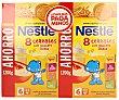 Papilla de 8 cereales con galleta maría para bebés a partir de 6 meses 2 unidades de 1200 gramos Nestlé Papillas
