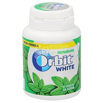 Orbit White chicle grageas sabor hierbabuena Bote 64 gr