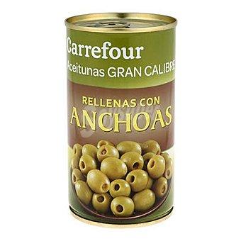 Carrefour Aceitunas verdes gigantes rellenas de anchoa 150 g