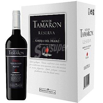 Altos de Tamarón Vino tinto reserva D.O. Ribera del Duero caja 6 botellas 75 cl 6 botellas 75 cl