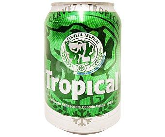 Tropical Cerveza rubia Lata 330 cc