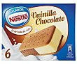Sándwich de vainilla y chocolate Caja 6 u x 100 ml (600 ml) Helados Nestlé