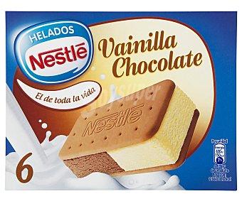 La Lechera Nestlé Sándwich de galleta con helado de vainilla y chocolate 6 unidades