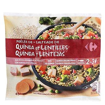 Carrefour Salteado de quinoa y lentejas con verduras y pollo 450 g