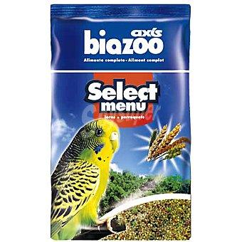 BIOZOO AXIS SELECT MENU Alimento completo para periquitos Envase 1 kg