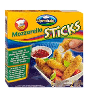 Alpenhain Sticks mozzarella rebozado con salsa picante 200 g