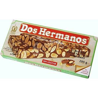 Dos Hermanos Turrón de chocolate con almendras Envase 200 g