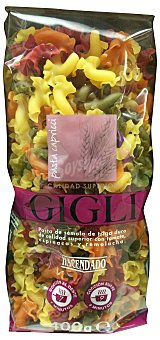 Hacendado Pasta capricci gigli colores Paquete 400 g