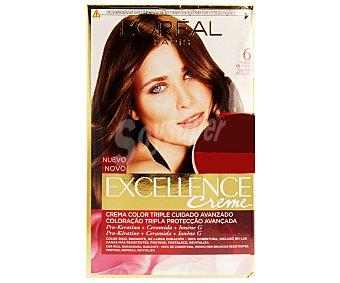 Excellence L'Oréal Paris Tinte de color rubio oscuro nº 6 Pack de 2 unidades