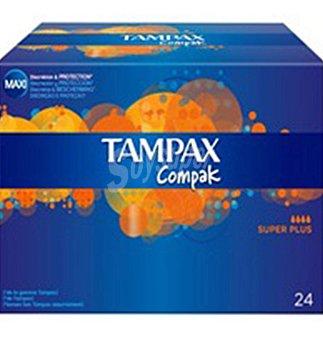 Tampax Tampón Compak Pearl super 24 unidades