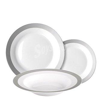 Vajilla 18 piezas porcelana endless 1 ud
