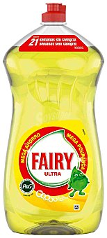 Fairy Ultra lavavajillas a mano concentrado limón Botella 1410 ml