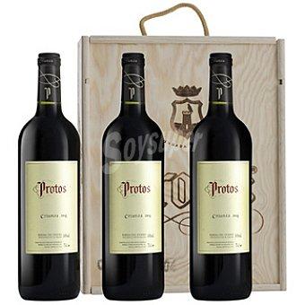 Protos Vino tinto crianza D.O. Ribera del duero Estuche 3 botella 75 cl