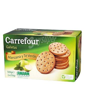 Carrefour Galletas con Manzana y Té verde 500 g
