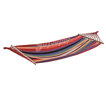 GARDEN STAR Hamaca para jardin o camping con cuerdas de 200x100 centímetros 1 unidad