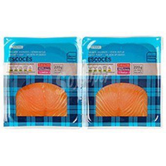 Eroski Salmón ahumado Pack 2x110 g