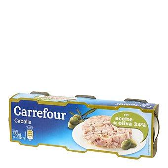 Carrefour Caballa en aceite de oliva Pack de 3x52 g