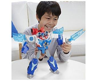 Transformers Figura articulada transformable con luces y sonidos, Power Surge Optimun Prime con Mini-Con 1 unidad
