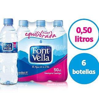 Font Vella Agua mineral 6 botellas de 50 cl