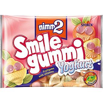 NIMM2 smile gummi Caramelos de goma con zumo de frutas y vitaminas sabor yogur Bolsa 100 g