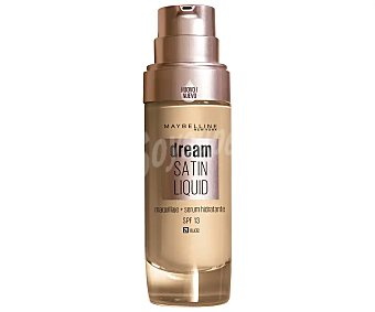 Maybelline New York Base de maquillaje con sérum hidratante tono 021 Nude Dream satin liquid