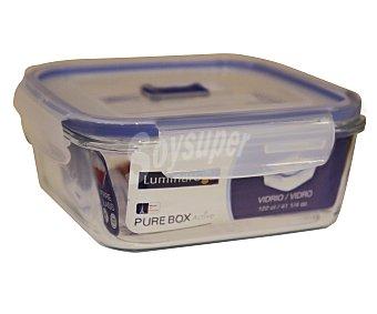 LUMINARC Recipiente hermético cuadrado de vidrio templado Pure Box Active, 1,22 litros, 16 centímetros 0,82l