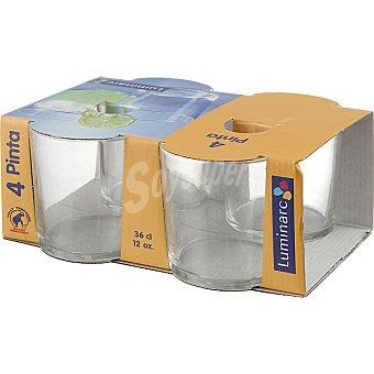 LUMINARC Pinta Vasos de vidrio set de 4 unidades 36 cl