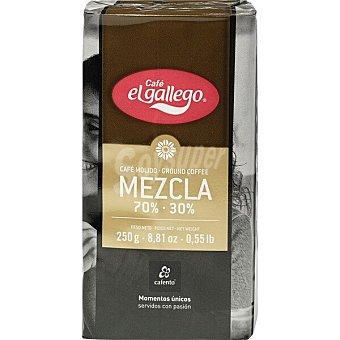 El Gallego Café molido mezcla suave 70-30 paquete 250 g