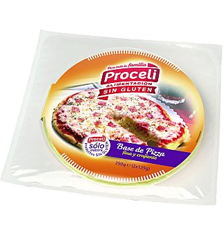 Proceli Base pizza s/gluten 2UNI 250 GRS