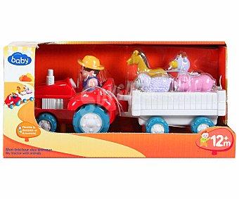 Baby Auchan Tractor con Animales, Granjero y Sonidos 1 Unidad