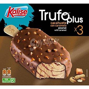 Kalise Trufo Plus bombón helado de cacahuete con caramelo sin gluten 3 unidades estuche 240 g 3 unidades