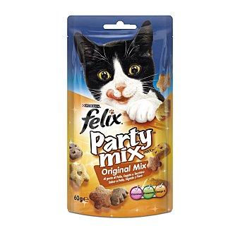 Purina Felix Snack para gatos party mix original Bolsa 60 gr
