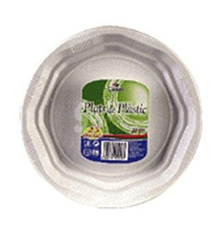 Condis Plato blanco plastico 22 cm 25 UNI