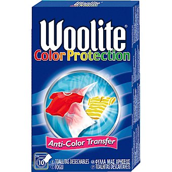 WOOLITE COLOR PROTECTION Caja 10 toallitas Caja 10 unidades