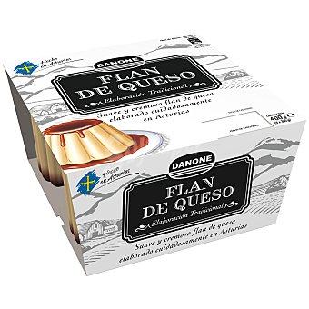 Danone Flan de queso hecho en Asturias 4 unidades de 100 g