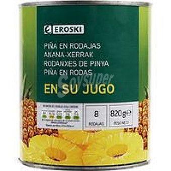 Eroski Piña en rodajas Lata 490 g