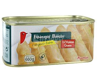 Auchan Esparragos blancos de categoría extra 13/16 piezas Lata de 425 grs