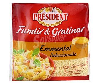 President Queso emmental rayado para fundir y gratinar Bolsa 150 g