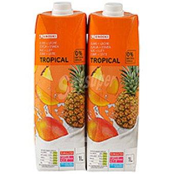Eroski Zumo con leche Mediterráneo Pack 2x1 litro
