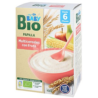Carrefour Baby Papilla multicereales con fruta desde 6 meses ecológico Bio 400 g