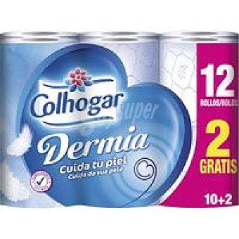 Colhogar Papel higiénico Dermia Paquete 12 rollos